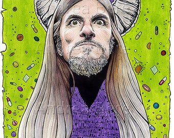 Wino portrait Original art by Andrea Beré  saint vitus doom drugs psychedellic