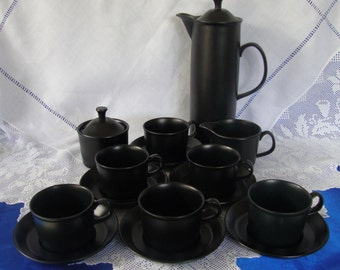 WEDGWOOD BLACK BASALT Coffee Pot Unrivalled Quality