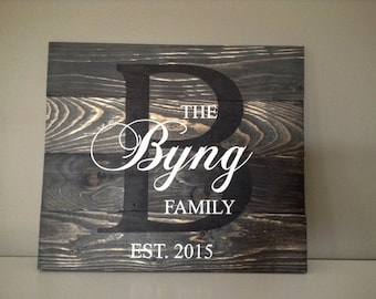 Wedding Gift, Personalized Wedding Gift, Housewarming Gift, Last Name Sign, Rustic Decor, Home Decor, Personalized Gift, Mothers Day Gift