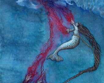 Sedna illustration  (limited edition prints) by Kirsty Greenwood.