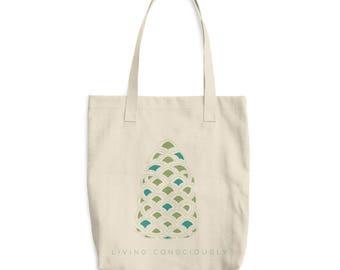 Achilles8 Pine Cone Cotton Tote Bag