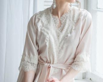 Long bridal robe