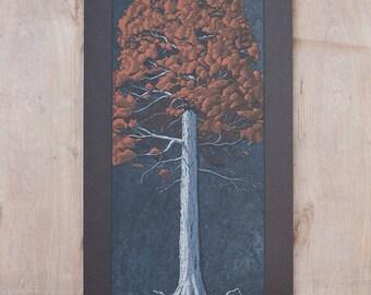 Tree Portrait 006 - Hand Pulled Screen Print