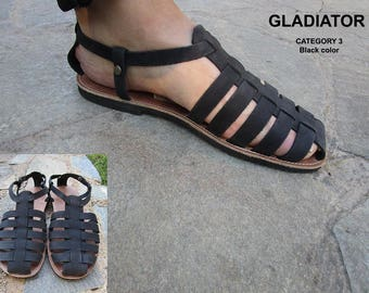 GLADIATOR Mens Sandals,Greek Sandals, Closed toe Sandals, Handmade Sandals, Leather Sandals,Men's Leather Sandals,Greek Sandals,
