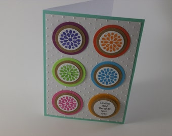 Sending Good Thoughts Your Way, Sympathy card, Well wishes