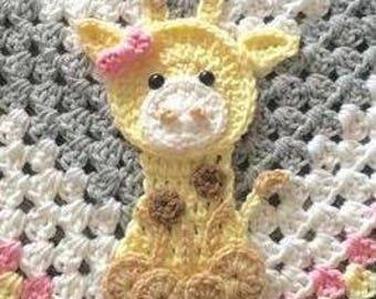 Crochet Pattern - INSTANT PDF DOWNLOAD - Giraffe - Zoo Animals - Crochet Giraffe - Crochet Pattern - Applique Pattern - Cute