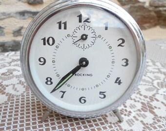 "Vintage French ""Bayard"" mechanical alarm clock,"