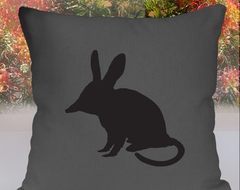 SALE Bilby Silhouette Grey Cushion Cover Free Shipping Australia Wide.