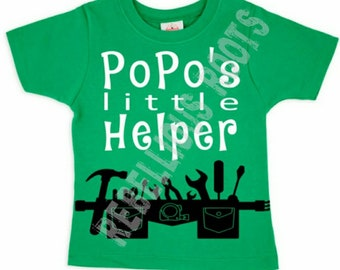 Popo's, grandpa, little helper