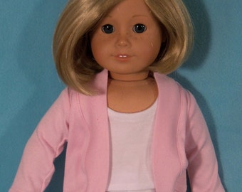 18 inch Doll  Pink Slouch Cardigan