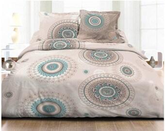 Duvet cover 100% cotton yarn Cm2 (220 X 240) 57 Mandala pattern