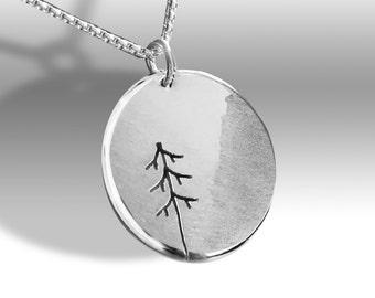 Fir Tree Pendant, Silver Jewelry, Silver Pendant, Pendant, Tree Pendant
