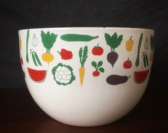 FINEL Kaj Franck Orange Enamel Bowl 1960s Mid Century