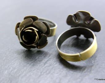 4 bronze adjustable rings