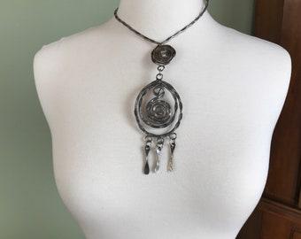 70s Artisan Spiral Necklace - 183
