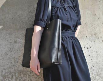 Leather Tote Bag, Italian Leather Bag, Black Leather Laptop Bag, Leather Work Bag, Leather Tote, Leather Shoulder Bag, Leather Bag