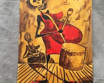 Original Painting by Brazilian Folk Artist Selaron (Escaderia Rio de Janeiro)