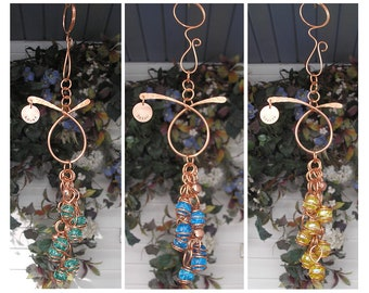 Wind Chimes - Garden Decor - Garden Art - Wind Chimes Handmade - Outdoor Decor - Glass Garden Art - Fathers Day - Gift for Dad