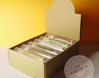 5 Natural Kraft Lip Balm Arched Display Boxes