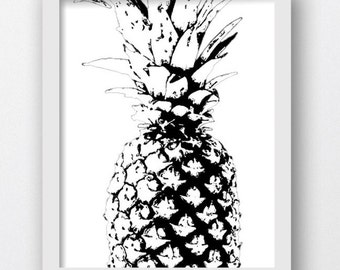 Pineapple Print, Pineapple Art, Pineapple Modern, Pineapple Photography, Pineapple, Summer Art, Wall Art, Wall Print, Printable