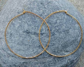 Gold Hoop Earrings, Simple Hoops, Hammered Hoops, Hoop Earrings, Hammered Earrings, Gold Earrings, Small, medium, large