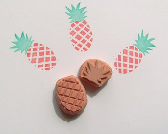 Pineapple Rubber Stamp, tropical pineapple stamp, pineapple stamp, tropical wedding, fruit stamp, food stamp, tropical stamp, cardmaking