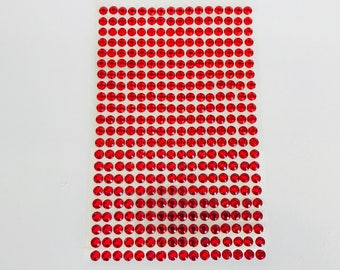 Plate 468 rhinestone stickers 4mm red cabochon