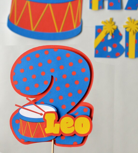 Baby Boy First Birthday Music Party CAKE TOPPER 3-D Musical