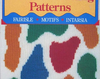 Colorful Machine Knitting Pattern Book by Barbara Devaney