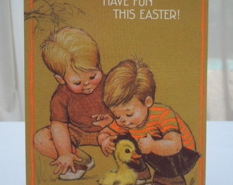 "Vintage EASTER Cards Lot of -3 Cards  for ""Baby's Toddler Boy's""   1960's Hallmark ""New Old Stock"" 3 Cards - 4"" x 6"""