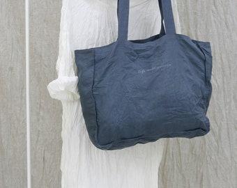 Linen shopping bag /Linen beach bag/Linen tote bag