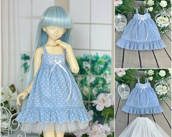 Sundress  for Minifee and Unoa 1.5  MSD, BJD doll 1/4 size
