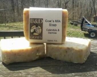 Calendula & Oatmeal Goat's Milk Soap