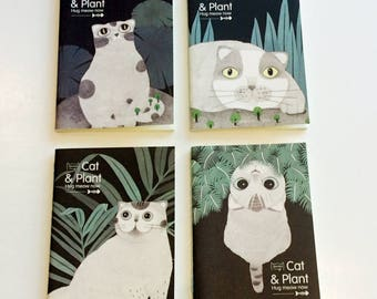 Cat note books available in 4 cute designs