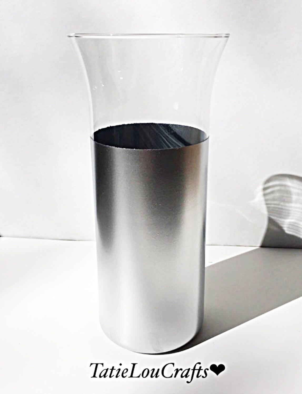 Silver dipped vase silver wedding decorglass cylinder vase zoom reviewsmspy