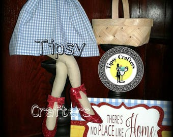 Mini Dorothy Wreath Attachment  - Dorothy Doll - Wizard Of Oz Doll - sign/basket not included