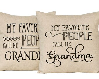 Grandma Gift - Personalized Gift for Grandparents - Mother's Day Gift - Decorative Pillow - Gift from Grandchildren - Grandmother Gift