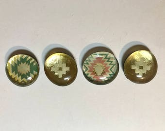 Set of 4 Glass Magnets