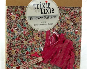 Liberty fabric make your own knickers kit - Claricoates
