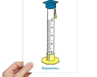 Funny Graduation Card College Graduation Gift College Graduation Card High School Graduation Card Graduated Cylinder Funny Science Joke