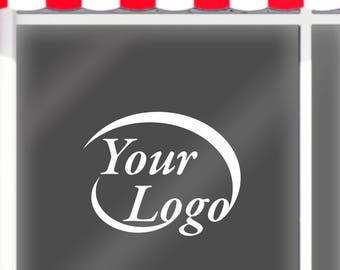 Your Logo on Your Window Shop / Vinyl Lettering Decal / Shop Window Decal / Vinyl Letters