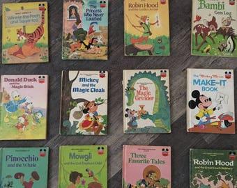 Lot of 12 1970's Disney Storybooks