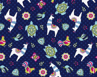 Toss Navy  - Juxta Posey - Betz White for Riley Blake Fabrics - You Select the Size