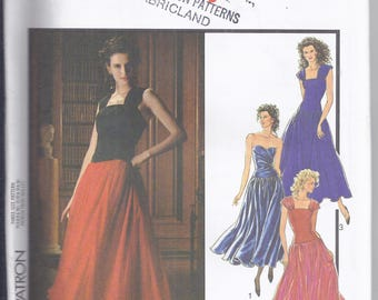 Style Sewing Pattern # 1652 from 1988.   Misses Evening Dresses   Bust 34-38  UNCUT
