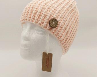 Crochet Messy Bun Hat/ Messy Bun Beanie/ Ponytail Beanie/ Honeydew Messy Bun (Teen/Adult)