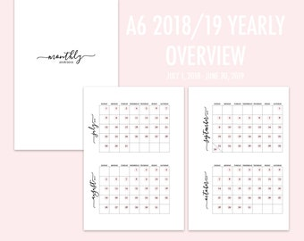 A6 RINGS Yearly Overview 2018/19 (Jul-Jun) PINK
