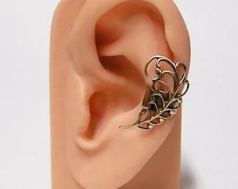 Victorian Leaf Ear Cuff (u)