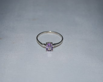 Sterling silver Amethyst ring size 8.75