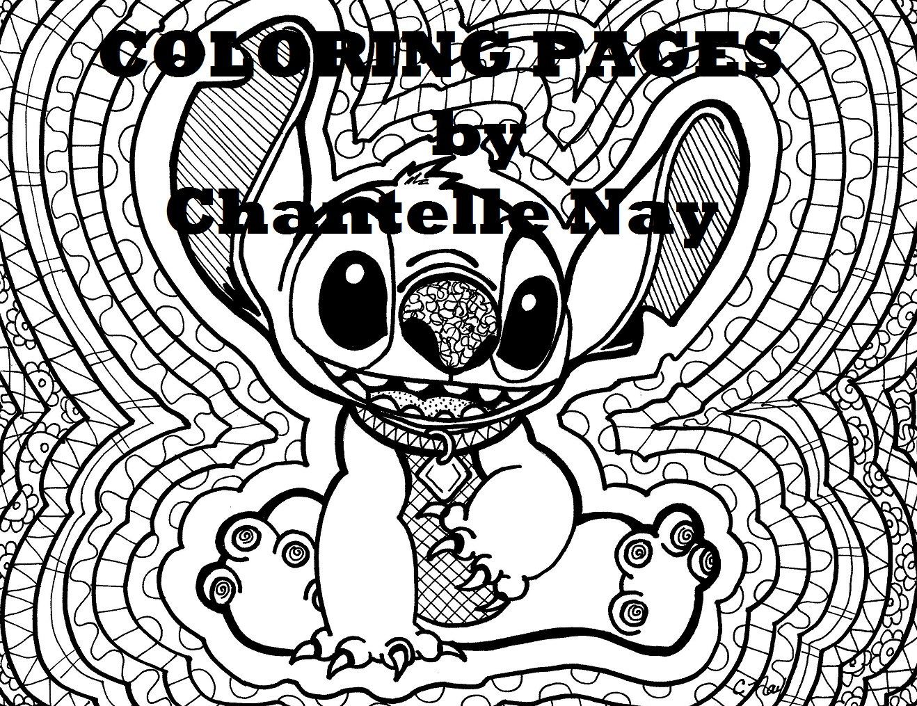 Coloring page Stitch disney art adult coloring picture