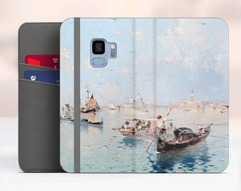 "Unterberger ""View to Saint Marks Square"" Samsung Galaxy S9 folio case iPhone 7 folio case Galaxy S8 Plus folio Phone cover. WC-FUN-01"